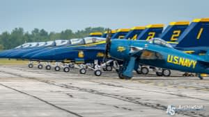 US Navy Blue Angels F/A-18 Hornets and F8F Bearcat - Thunder Over Michigan 2017