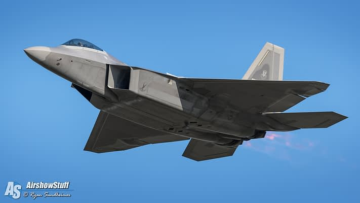 USAF F-22 Raptor Demonstration Team 2019 Airshow Schedule Released