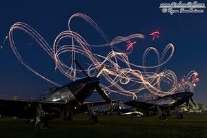 P-51 Mustangs and Fireworks - EAA AirVenture Oshkosh
