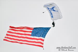 US Air Force Academy Wings Of Blue Parachute Team