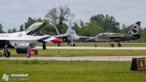 USAF Thunderbirds, Breitling Jet Team, and US Navy F/A-18F Super Hornet Demonstration Team - Vectren Dayton Airshow 2015