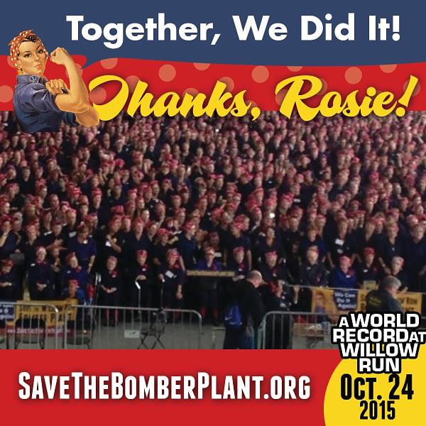 Rosie the Riveter World Record - Yankee Air Museum