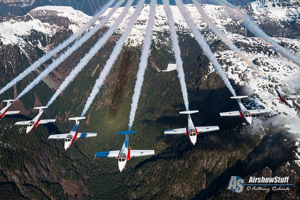 Canadian Snowbirds And CF-18 Hornet Spring Practice/Air To Air Photos