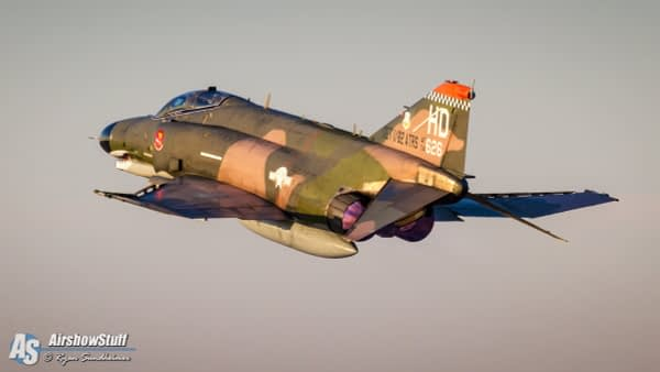 USAF F-4 Phantom II Afterburner Takeoff