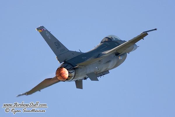 2016 F-16 Fighting Falcon Demo Team Schedule Released