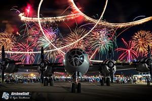 """B-29 Superfortress """"Fifi"""" Fireworks"""
