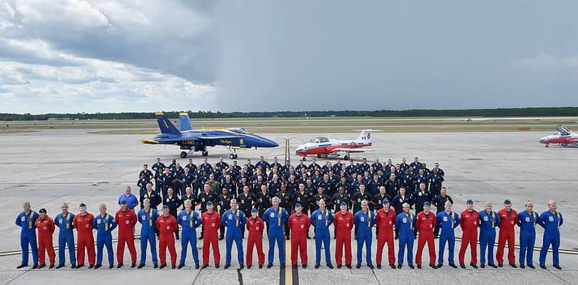Canadian Snowbirds Visit Blue Angels, Perform In Pensacola