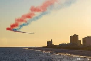 Blue Angels and Patrouille de France Fly Together