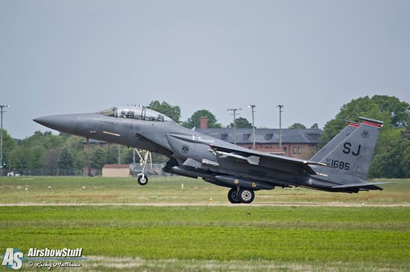 Strike Eagle lands at Langley AFB