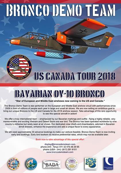 OV-10 Bronco Demo Team - North American Tour Info