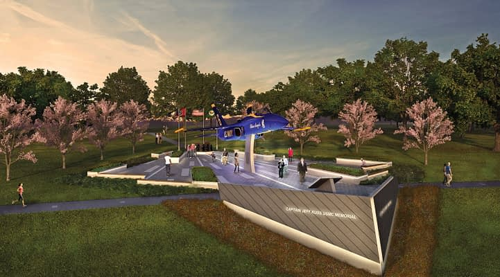Smyrna Breaks Ground On Captain Jeff Kuss Memorial For Fallen Blue Angel Pilot