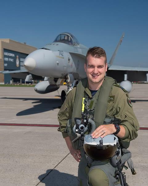 """RCAF CF-18 Hornet Demo Pilot Captain Stefan """"Porcelain"""" Porteous"""
