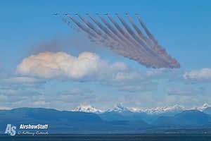 Canadian Snowbirds Practice - Air Force Beach, BC