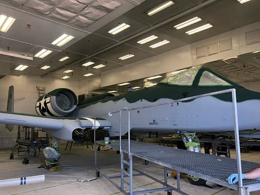 Exclusive Photos Of The A-10 Demo Team's WWII-Inspired Warthog Paint Scheme