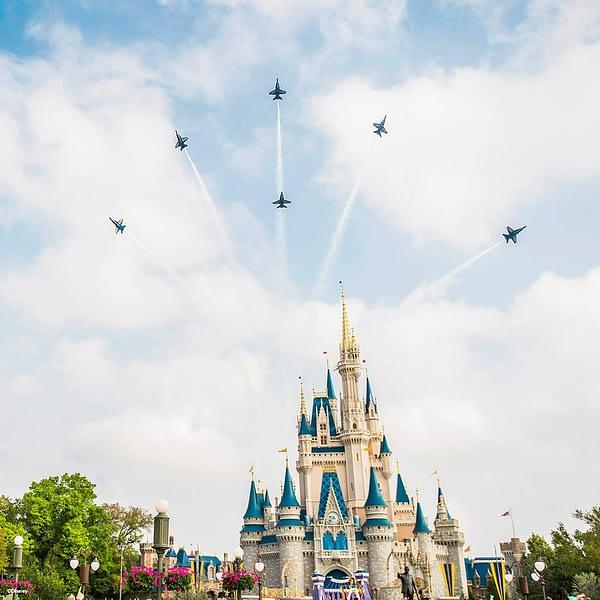 US Navy Blue Angels - Walt Disney World Flyover