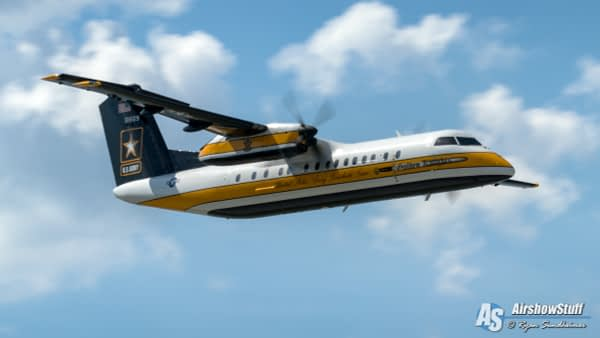 US Army Golden Knights C-147A - AirshowStuff