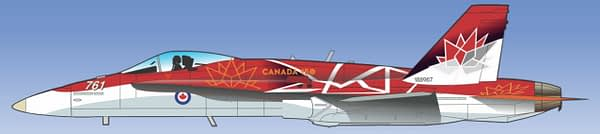 "Canadian Forces CF-18 Hornet Demonstration Team - 2017 ""Canada 150"" Paint Scheme"