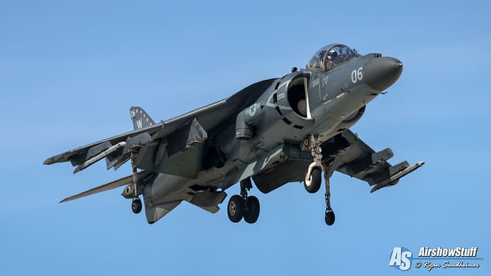 2020 USMC AV-8B Harrier Demonstrations Schedule Released
