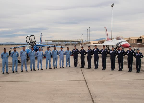 Patrouille de France and USAF Thunderbirds
