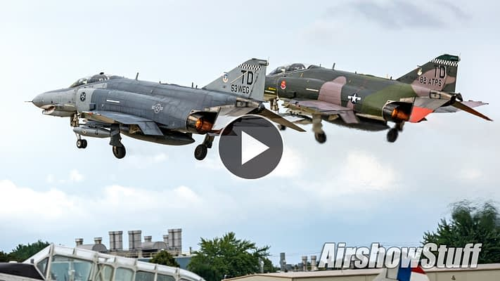 WATCH: Thunder And Smoke From TWO F-4 Phantoms Flying Together At AirVenture 2016