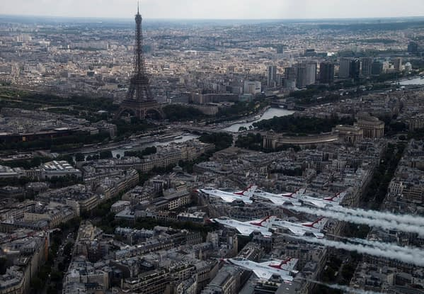 USAF Thunderbirds Over Paris, France - July 2017
