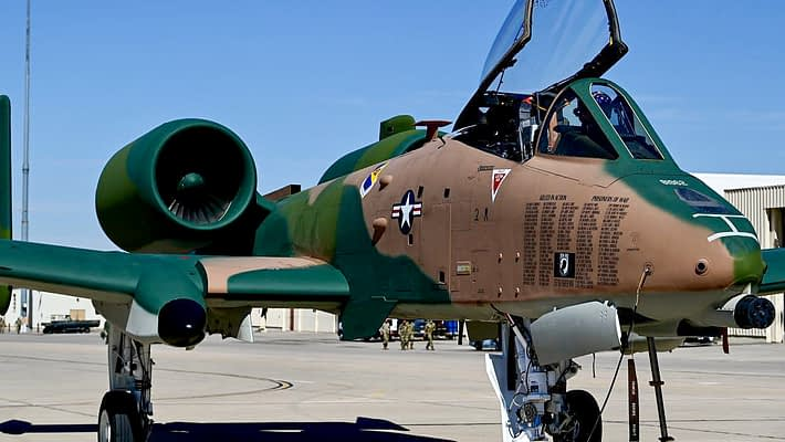 A-10 Demo Team Unveils New Special Paint Scheme