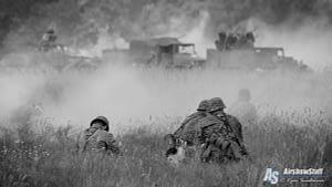 WWII Battle Reenactment - Thunder Over Michigan 2015