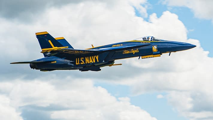 The First Blue Angels Super Hornet Has Arrived In Pensacola
