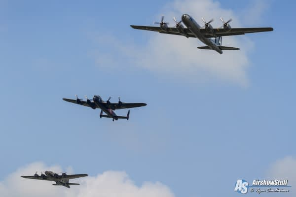B-29 Superfortress, Avro Lancaster, and B-17 Flying Fortress - Thunder Over Michigan 2015