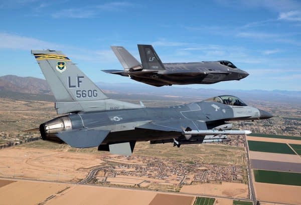F-35 Lightning II and F-16 Fighting Falcon
