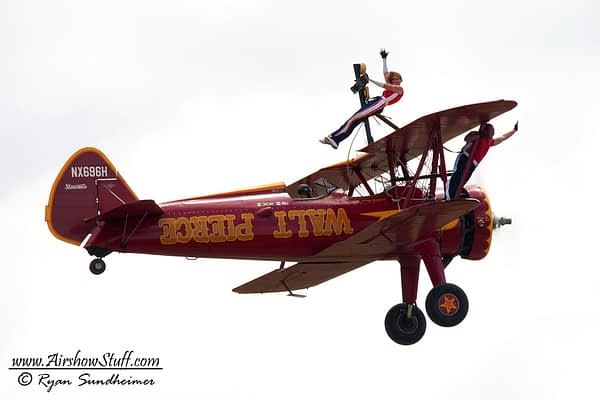 Walt Pierce Wingwalking Stearman - AirshowStuff