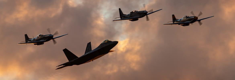 USAF Heritage Flight - EAA AirVenture Oshkosh 2019 - AirshowStuff