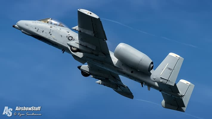 USAF A-10 Thunderbolt II Demonstration Team 2021 Airshow Schedule Released