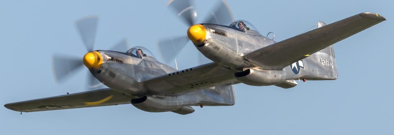 XP-82 Twin Mustang Banner - AirshowStuff