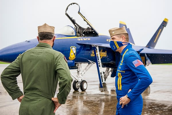 US Navy Blue Angels Receive First Super Hornet - AirshowStuff
