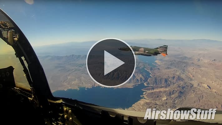 EXCLUSIVE:  Helmet Cam Footage Of Two F-4 Phantoms Over The Grand Canyon