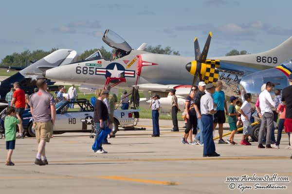 Warbird Heritage Foundation's A-4 Skyhawk and P-51 Mustang