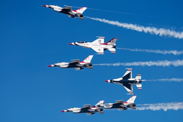 USAF Thunderbirds Blue Out Pitch