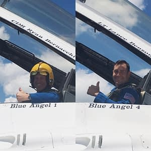 US Air Force Thunderbirds and US Navy Blue Angels