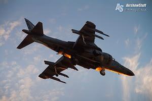 USMC AV-8B Harrier II Twilight Demonstration - EAA AirVenture Oshkosh 2015