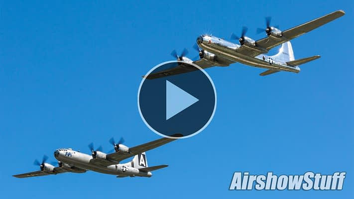 WATCH:  AirVenture's Bomber Day Features Rare Modern And Vintage Bomber Formations And Flybys In Oshkosh