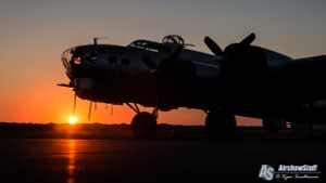 """B-17 Flying Fortress """"Aluminum Overcast"""" Sunset - Heavy Bombers Weekend 2015"""