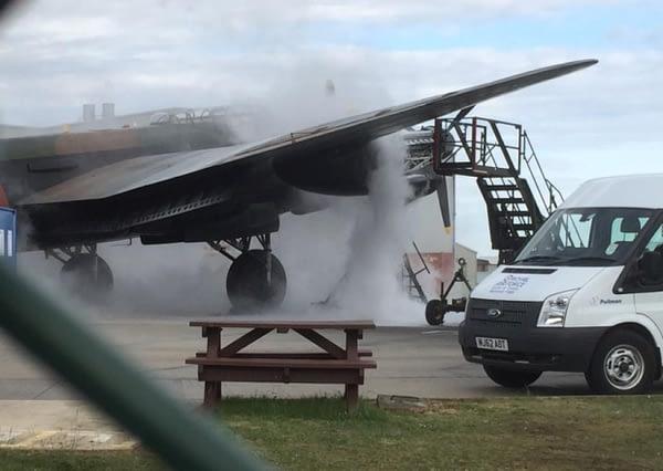 BBMF Avro Lancaster Bomber Engine Fire