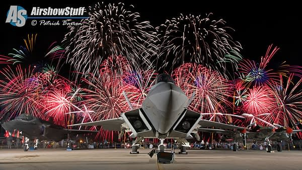 F-22, F-35, and P-38 Fireworks