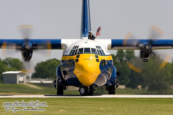 US Navy Blue Angels - C-130 Hercules Fat Albert