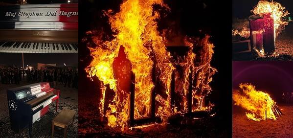 "Major Stephen ""Cajun"" Del Bagno Piano Burning"