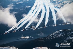 Canadian Forces Snowbirds - Air to Air Over British Columbia