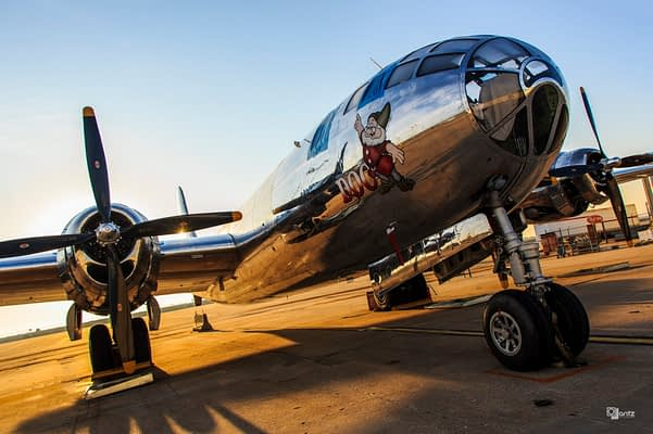 "First Flight Of B-29 Superfortress ""Doc"" Announced"
