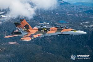 CF-18 Hornet Demo Team Battle of Britain Scheme - Air to Air Over British Columbia