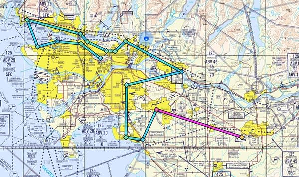 Operation Backup Inspiration Flight Map